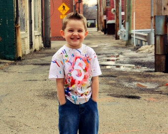 Art Shirt, Art Party, Paint Splatter Shirt, Birthday Shirt, Custom Shirt, Painting Party, Birthday Boy, Boy Birthday, Tshirts, Painted Shirt