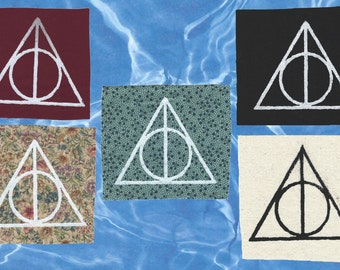 Deathly Hallows Screen-Printed patch