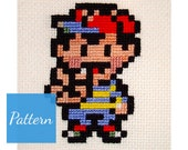 Ness (Earthbound) Cross Stitch Pattern