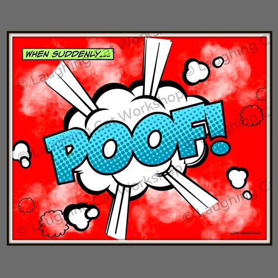 Batman Art Print Batman Art Poster Poof Comics