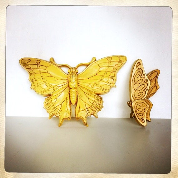 Yellow Butterfly Wall Decoration 118