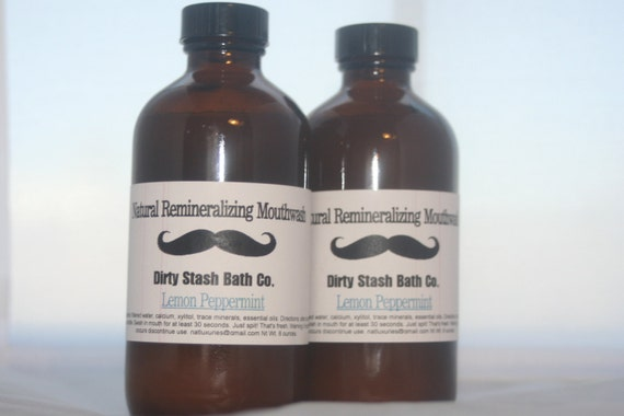 Natural Remineralizing Mouthwash with Organic ingredients- Clove essential oil