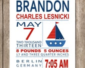 PRINTED Brandon Sailboat Subway Art Print Printed and Shipped