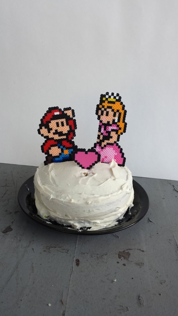 princess wedding cake toppers items similar to cake toppers mario and princess 18778