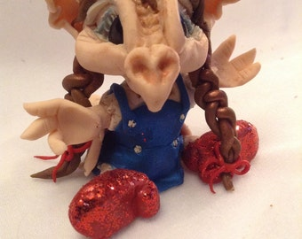 Dorothy Draegans Dragons ooak clay art sculpture