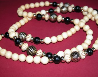 Attractive and elegant long beaded necklace 48 inches long
