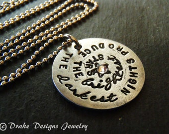 Inspirational quote jewelry inspirational necklace
