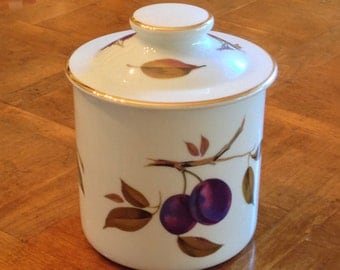 "Royal Worcester ""Evesham"" or ""Evesham Gold"" Small Canister"