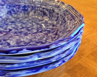 "Mikasa ""Sundown Blue"" Set of Four Soup Bowls"
