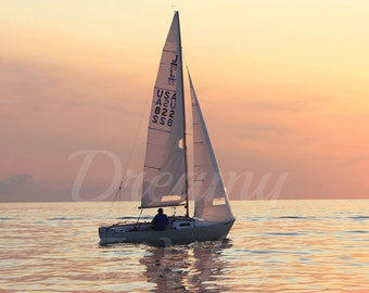 Sailboat Art, Sailboat decor, sailboat photography, photography, boat art, sunset photo