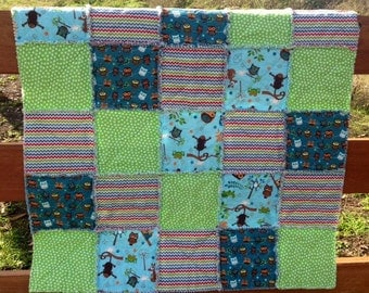 Flannel Shaggy Quilt - Boy - Play Size