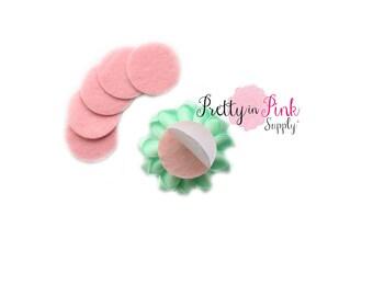 """Mini Light Pink Felt Circles- 1"""" Felt Circles- Self Adhesive Felt Circle- 1"""" Inch Felt Circles- Die Cut Felt Circle- Wool Felt Circle"""