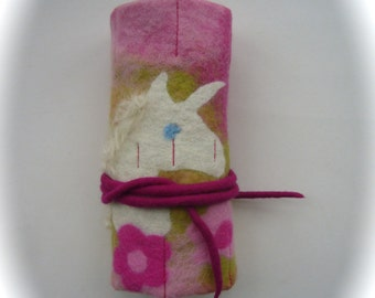 Crayon Wrap Roll  Felted   Waldorf   School  Beeswax  Unicorn.