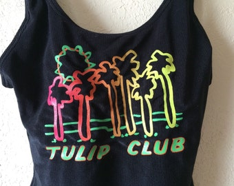 vintage tulip club one piece swimsuit lycra only by dupont