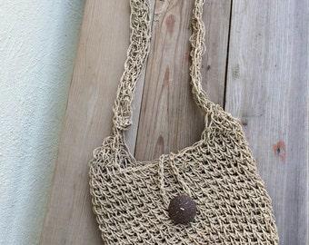 Cross body weaved purse