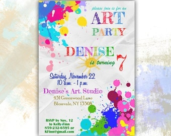ART PARTY Invitation Printable