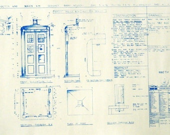 Dr. Who TARDIS Police Box #2 Blueprint