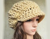 Newsboy Slouchy hat - CAMEL (Or CHOOSE Color) - slightly larger style - womens teen girls - accessories - vegan friendly - acrylic