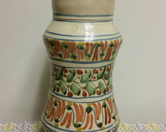Large Mexico Terra Cotta Pottery Vase