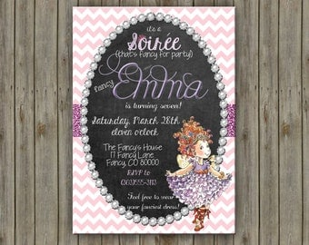 Custom Fancy Nancy Birthday Invitation