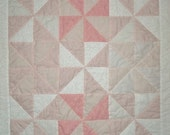 Baby Girl Quilt Handmade Pink Pinwheels