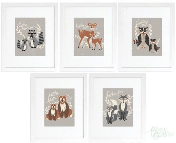 8x10 'hello, bear' art prints