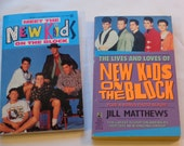 "Pair of Vintage Young Adult Paperbacks, ""The Lives and Loves of New Kids on the Block"" and ""Meet The New Kids on the Block"" 1990."