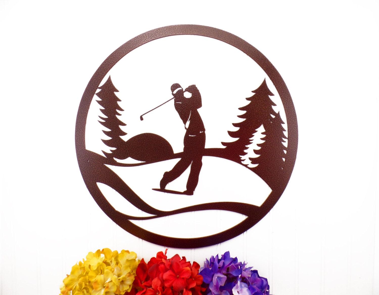Metal Golf Wall Decor : Golf metal wall art gift for him golfer