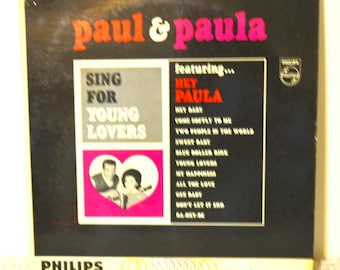 Paul and Paula - Sing For Young Lovers   music, lp music, lp record, vinyl record