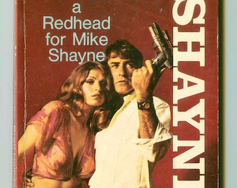 A Redhead For Mike Shayne by Brett Halliday Vintage Manly Man's Mystery Pulp Dell Paperback Book #7329 1st Thus