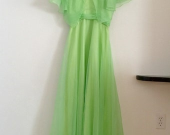 Vintage bridesmaid dress vintage prom dress pastel bridesmaid dress mint green lime green green pastel sylvia anne dress