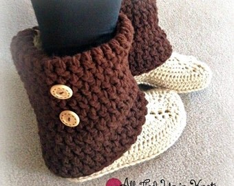 Crochet Audrey Boots-Teen/Adult