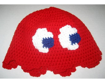 Video Game Ghost Hat - Red, Beanie Style