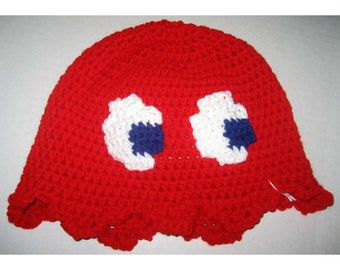 Video Game Ghost Hat - Red, Sun-hat Style