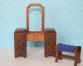 Strombecker Dressing Table with Stool