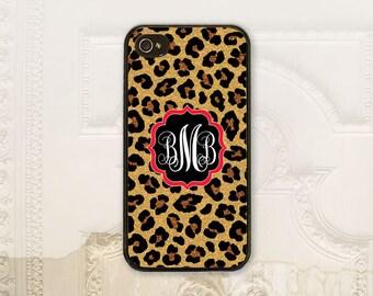 Animal print phone case Monogram phone case iPhone 4 4S 5 5s 5C 6 6+ Plus Samsung Galaxy s3 s4 s5 s6 Personalized case Cheetah Leopard P5002