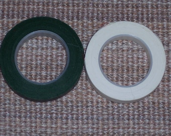 floral tape,white or green,half inch wide,60ft roll,florals,arrangements, crafts