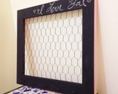 Customizable chalkboard Chicken Wire Frame, Hair Bow Holder, Hair Clip Organizer, Memo Board, Photo Frame