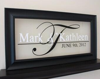 Wedding Monogram Sign Monogram Sign Personalized Sign Established Sign Wedding Logo Sign Wedding Initials sign