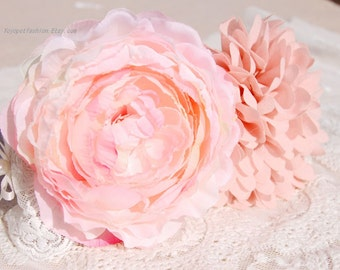 Beautiful Handmade pink flowers collar for pet, Cute wedding dog collar, Pet Party collar,white lace collar for dog.flower dog collar