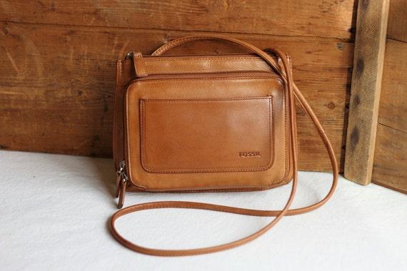 small tan purse