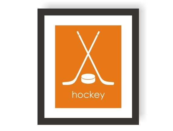 Hockey Decor, Sports Theme Nursery, Hockey Nursery,Toddler Art, Boys Bedroom, Hockey Stick Decor, Playroom Print, Kids Room Decor