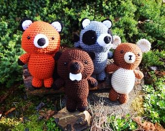 Crocheted Woodland Animals