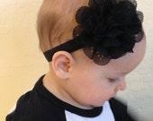 SALE..Black Baby Headband..Newborn Headband..Baby Girl Headband..Headband..Infant Headband..Baby Headband..Halloween Headbands