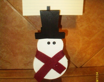Snowman Recipe Card Holder