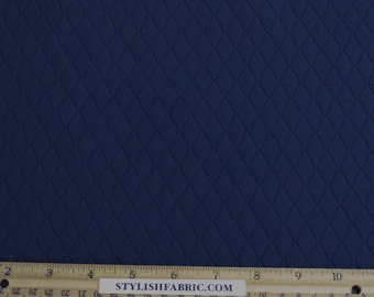 Navy Quilt Knit Jersey Stretch Fabric by the Yard - 1 Yard Style 471