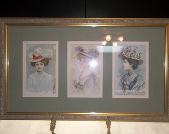 clearance was 4200 vintage postcards professionally matted and framed victorian women postcards t