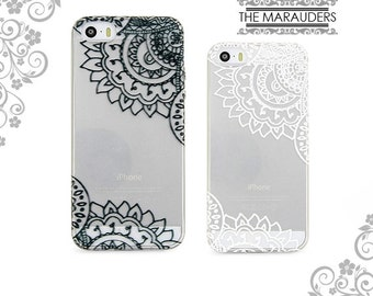 Mandala, Lace, Flower Soft Flexible iPhone Case Clear  iPhone 7,7Plus Case Galaxy S6 S7 Edge Note 4,5 iPhone 4,5,6,6 Plus Case V0030