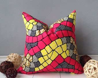 "18"" PIllow Cover, Home Decor, Couch Pillow, Floor Pillow, Scatter PIllow, Decorative Pillow Cover, Scatter Cushion, African Homeware"
