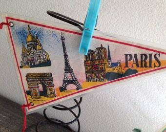Paris Pennant Flag Banner